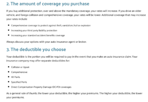 How Your Auto Insurance Rates are Set