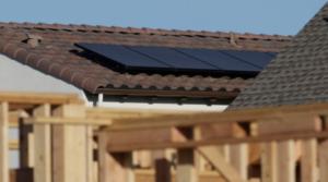 高效热水器或加热设备,以及太阳能板
